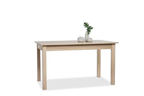 001283 Coburg Eiche Sägerau Nb. 120 x 70 cm Tisch Esszimmertisch Küchentisch ausziehbar auf ca. 160 cm
