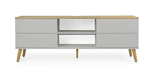 Tenzo 1664-612 Dot Designer TV-Bank Holz, grau / eiche, 43 x 162 x 60 cm
