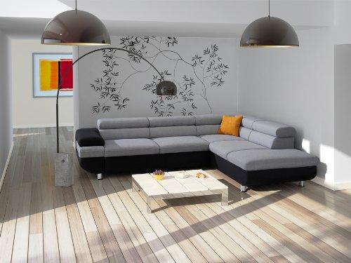 cavadore 5011 polsterecke caponelle 3 er bett mit kopfteilverstellung ottomane mit bettkasten. Black Bedroom Furniture Sets. Home Design Ideas