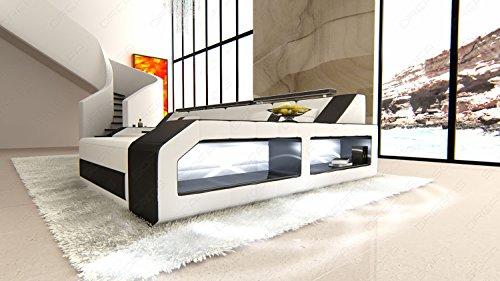 Design Ledersofa Arezzo LED L-Form