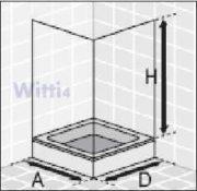 Eckeinstieg Duschkabine Kunststoffglas Tropfendekor Silberne Profile 75x75 75x80 75x90 90x75 80x75 2