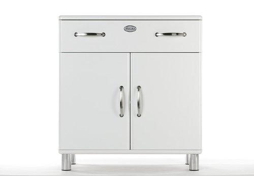 Kommode Malibu 5127 mit 2 Türen / 1 Schublade in weiß Sideboard von Tenzo