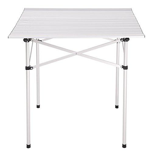 Aluminium Klapptisch Gartentisch Outdoor-Camping-Tisch, 69.5x68x69cm, inkl. Tragetasche
