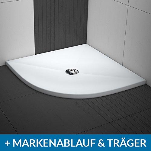 AQUABAD® Duschwanne Comfort Lux Flat 90x90cm Viertelkreis R55
