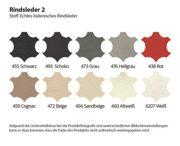Wohnlandschaft XXL Leder San Remo mit Beleuchtung Farbwahl Teilleder 1