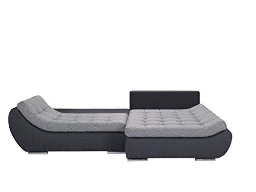 Elegante Polsterecke Mono, Design Ecksofa, Eckcouch mit Bettkasten und Schlaffunktion, Schlafsofa, L-Form Moderne Couch Couchgarnitur (Ecksofa Rechts, Hugo 12 + Bering 90)