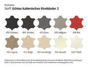 Wohnlandschaft XXL Leder schwarz Elsa Farbwahl Teilleder (Ausrichtung Normal) 1