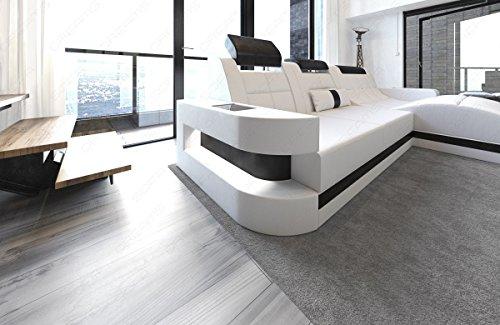 Design Ledersofa Wave L-Form LED