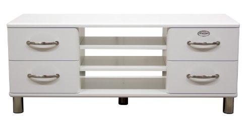 Tenzo 5158-005 Malibu - Designer TV-Bank 54 x 132 x 44 cm, MDF lackiert, weiß
