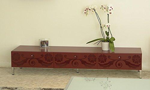 Lowboard Boheme mit 2 Schubladen in bordeau TV Board von Tenzo