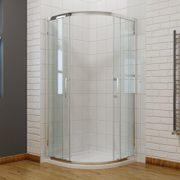 Viertelkreis Duschkabine 90x90cm Duschabtrennung mit Rahmen Runddusche Schiebetür Dusche Duschwand 1
