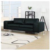 Madison Designercouch / Polstergarnitur / Polstercouch / Couch 3-Sitzer Kunstleder schwarz 1