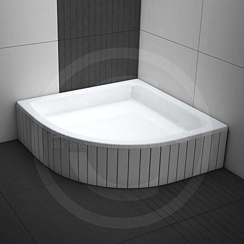 Duschwanne / Duschbecken M03 | AQUABAD® Comfort Magno Maße: 90x90cm R55 viertelkreis / Höhe: 26cm | Styroporträger integriert, zum befliesen