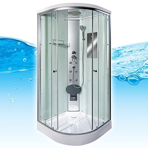 AcquaVapore DTP10-0000 Dusche Duschtempel Duschkabine Fertigdusche 80x80, EasyClean Versiegelung der Scheiben:Nein! +0.-EUR
