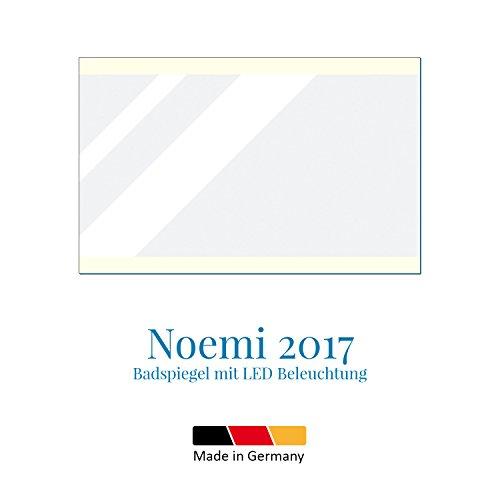 Noemi 2017 - LED BADSPIEGEL mit Beleuchtung - Made in Germany - (Breite) 100 cm x (Höhe) 70 cm