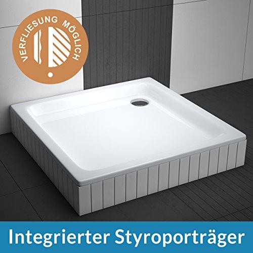 aquabad duschwanne comfort forta 90x90cm quadrat zum befliesen m bel24. Black Bedroom Furniture Sets. Home Design Ideas