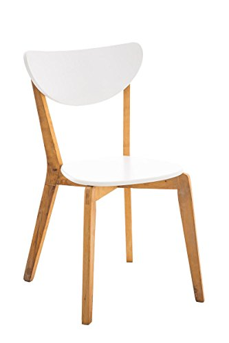 CLP Retro Esszimmer-Stuhl ARABIA, Birken-Holz, Küchenstuhl Lehnstuhl modern natura-weiß