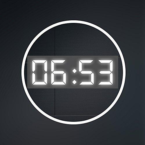 90 cm x 70 cm Design Badspiegel mit LED Beleuchtung von Artforma | Wandspiegel Badezimmerspiegel | SENSOR SCHALTER + LED UHR