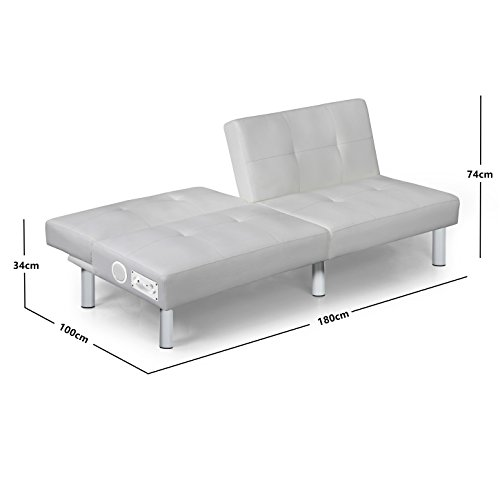 milano bluetooth schlafsofa weiss bettsofa schlafcouch. Black Bedroom Furniture Sets. Home Design Ideas