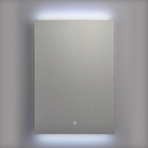 Krollmann Badspiegel, Hintergrund durch LED beleuchtet, mit Touch Sensor, 50x70cm