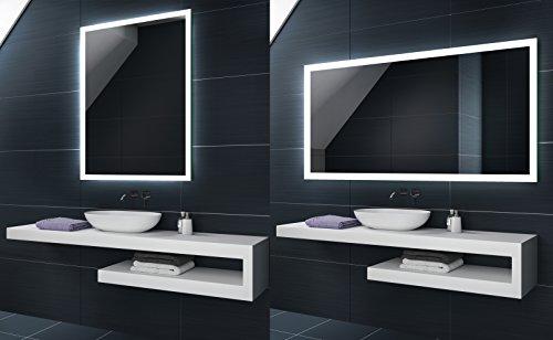 KALTWEIß 60x40 / 40x60 cm Design Badspiegel mit LED Beleuchtung von Artforma | Wandspiegel Badezimmerspiegel |Spiegel nach Maß