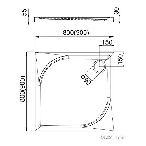 duschwanne duschtasse aquabad comfort praktica ma e. Black Bedroom Furniture Sets. Home Design Ideas
