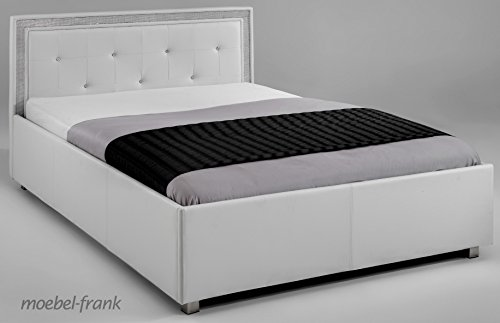 polsterbett weiss 160x200 kunst lederbett steine bett doppelbett mainz 1 m bel24. Black Bedroom Furniture Sets. Home Design Ideas