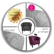 "Clubsessel Loungesessel Cocktailsessel ""MONACO 2"" Sawanna Hellgrau W364 08 2"