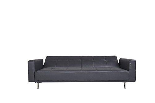 Schlafsofa Luis schwarz Schlafcouch Stoff Schlaffunktion Sofa