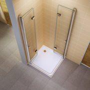 i-flair® - Falttür Duschkabine 75x90x190 cm aus Sicherheitsglas (ESG) OHNE Duschwanne - ALLE GRÖßEN #99 2