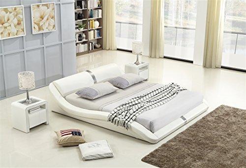 i-flair® - Polsterbett 160x200 cm T0W Weiß - alle Größen #68