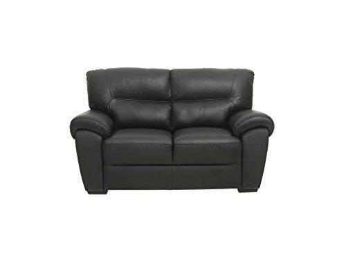 Sofa BAMO 2 Sitzer in schwarz Couch Ledersofa