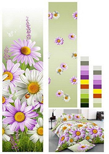 155x200 3D Bettwäsche 3tlg Bettwäscheset Blume Blumen-Muster Bettbezüge Microfaser Bettwäschegarnituren FSH 459