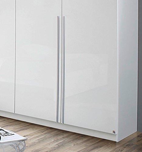 rauch kleiderschrank 6 t rig mit stangengriffen front hochglanz wei breite 271 cm. Black Bedroom Furniture Sets. Home Design Ideas