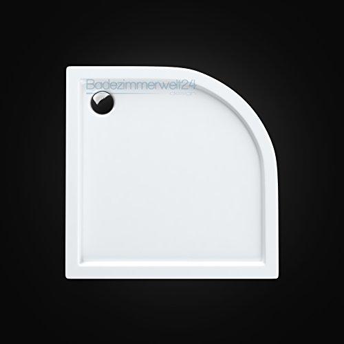 AQUABAD® Duschwanne/Duschtasse/Duschbecken Viertelkreis 80x80x14cm R=55cm