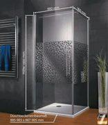 Duschkabine Dusche 90x90 Eckeinstieg Duschabtrennung Glas (ESG) Schulte 1