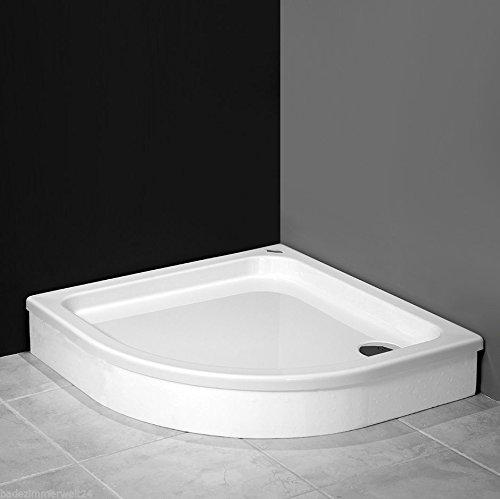AQUABAD® Duschwanne/Duschtasse mit Styroporträger zum befliesen, Viertelkreis R55 90x90x17 cm