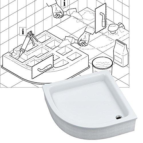 duschwanne duschbecken m03 aquabad comfort magno ma e 90x90cm r55 viertelkreis h he. Black Bedroom Furniture Sets. Home Design Ideas