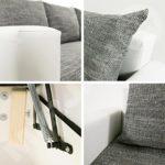 Ecksofa Top Lux! Sofa Eckcouch Couch! mit Schlaffunktion und zwei Bettkasten! Ottomane Universal, L-Form Couch Schlafsofa Bettsofa Farbauswahl (Soft 017 + Lawa 05)