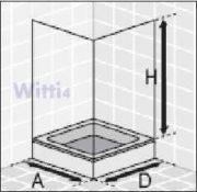 Eckeinstieg Duschkabine Echtglas Sicherheitsglas mit Streifen Silberne Profile Links 73 bis 88 und Rechts 68 bis 83cm Sondermass 1