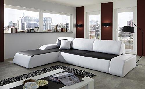 SAM® Ecksofa SOL schwarz - weiß 280 x 220 cm L - Form Ottomane links hoher Sitzkomfort ausreichend Platz