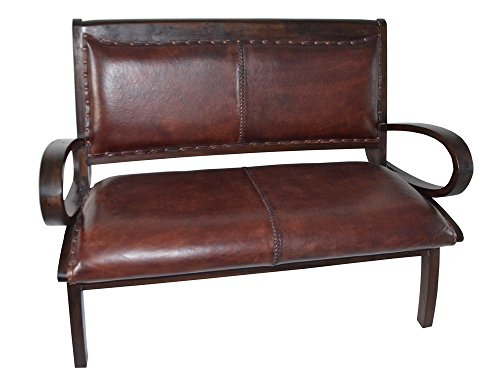 clubsofa ledersofa sitzbank sofa braun vintage kolonial. Black Bedroom Furniture Sets. Home Design Ideas