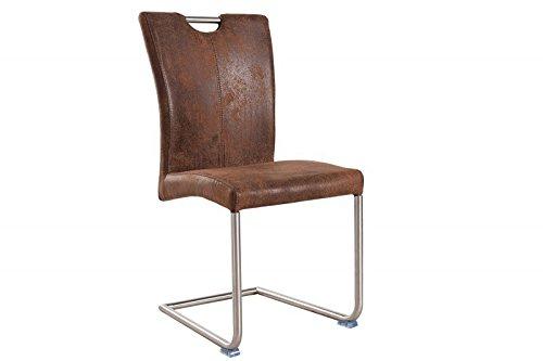 Dunord design stuhl esszimmerstuhl gerione mikrofaser for Dunord design stuhl verona