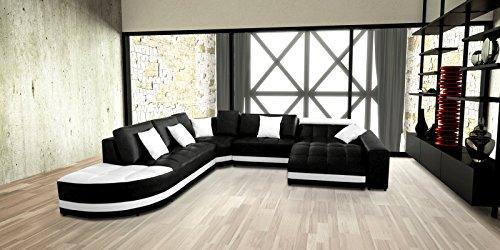 SAM® Ecksofa Glorianna schwarz weiß 311 x 311 cm links