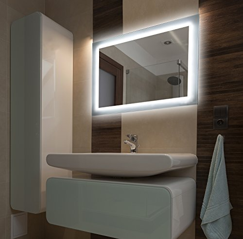 Winter SALE bei Bilderdepot24 Beleuchteter LED Spiegel Badspiegel Wandspiegel mit Beleuchtung - 65x50 cm - O-LED