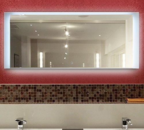 KROLLMANN Spiegel mit Beleuchtung, 120x 50 cm, LED Badspiegel beleuchtet [Energieklasse A+]
