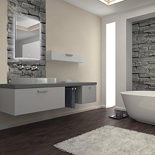LED-Spiegel, Beleuchteter Badspiegel in verschiedenen Ausführungen 80x60 cm bis 120x70 cm (60 x 80 cm)