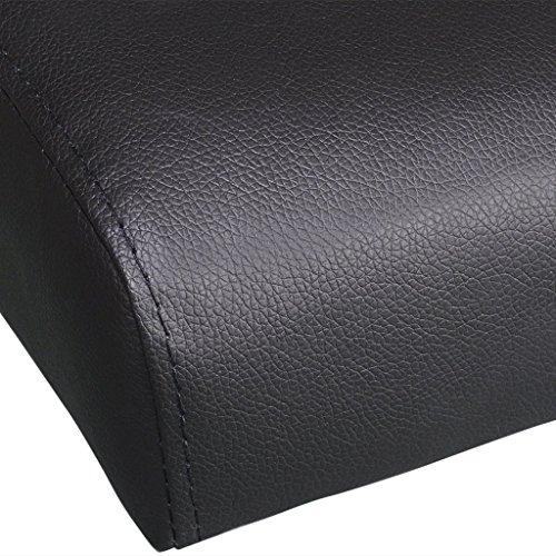 vidaXL Schlafsofa mit zwei Kissen verstellbar schwarz