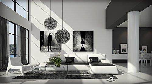 SAM® Ecksofa SOL schwarz - weiß 280 x 220 cm L - Form Ottomane rechts