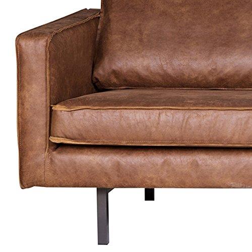 3 Sitzer Sofa RODEO Echtleder Leder Lounge Couch Garnitur braun